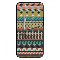 Oppo A71 2018 Mexican Embroidery With Clock Cover