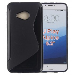 Black Silicone Protective Case HTC U Play