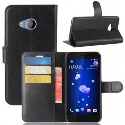 HTC U Play Black Wallet Case