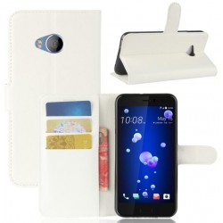 Protection Etui Portefeuille Cuir Blanc HTC U Play
