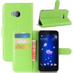 HTC U Play Green Wallet Case