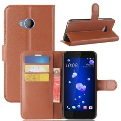 HTC U Play Brown Wallet Case