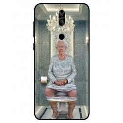 Asus Zenfone 5 Lite ZC600KL Her Majesty Queen Elizabeth On The Toilet Cover