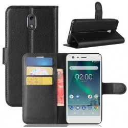 Nokia 2 Black Wallet Case