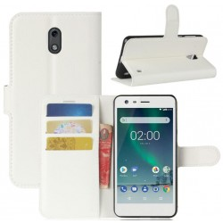 Nokia 2 White Wallet Case