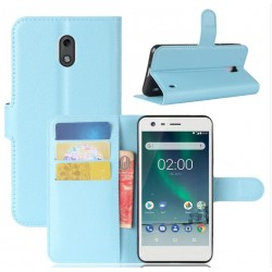 Nokia 2 Blue Wallet Case