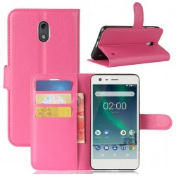 Nokia 2 Pink Wallet Case