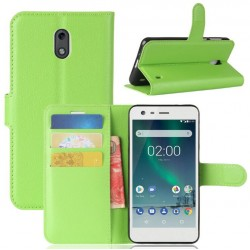 Nokia 2 Green Wallet Case