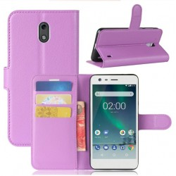 Nokia 2 Purple Wallet Case