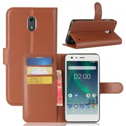 Nokia 2 Brown Wallet Case