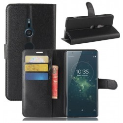 Sony Xperia XA2 Black Wallet Case