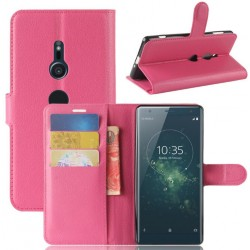 Protection Etui Portefeuille Cuir Rose Sony Xperia XA2