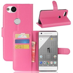 Protection Etui Portefeuille Cuir Rose Google Pixel 2