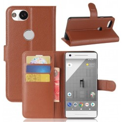 Protection Etui Portefeuille Cuir Marron Google Pixel 2