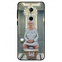 Alcatel 3 Her Majesty Queen Elizabeth On The Toilet Cover