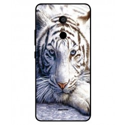 Alcatel 3c White Tiger Cover