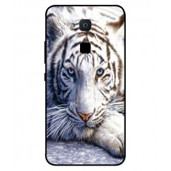 Coque Protection Tigre Blanc Pour BQ Aquaris VS Plus