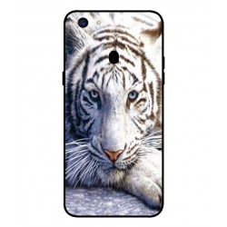 Coque Protection Tigre Blanc Pour Oppo F5 Youth