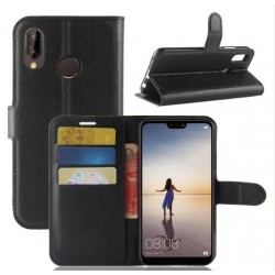 Huawei P20 Black Wallet Case