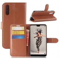 Huawei P20 Brown Wallet Case