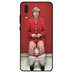 Huawei P20 Angela Merkel On The Toilet Cover