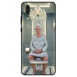 Huawei P20 Her Majesty Queen Elizabeth On The Toilet Cover